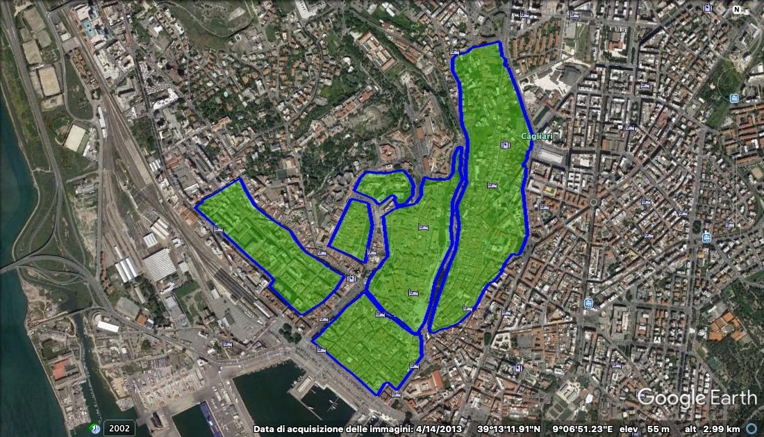 Mappa Sardegna Zona Cagliari.Ztl Cagliari Mappa Orari Telecamere Parcheggi