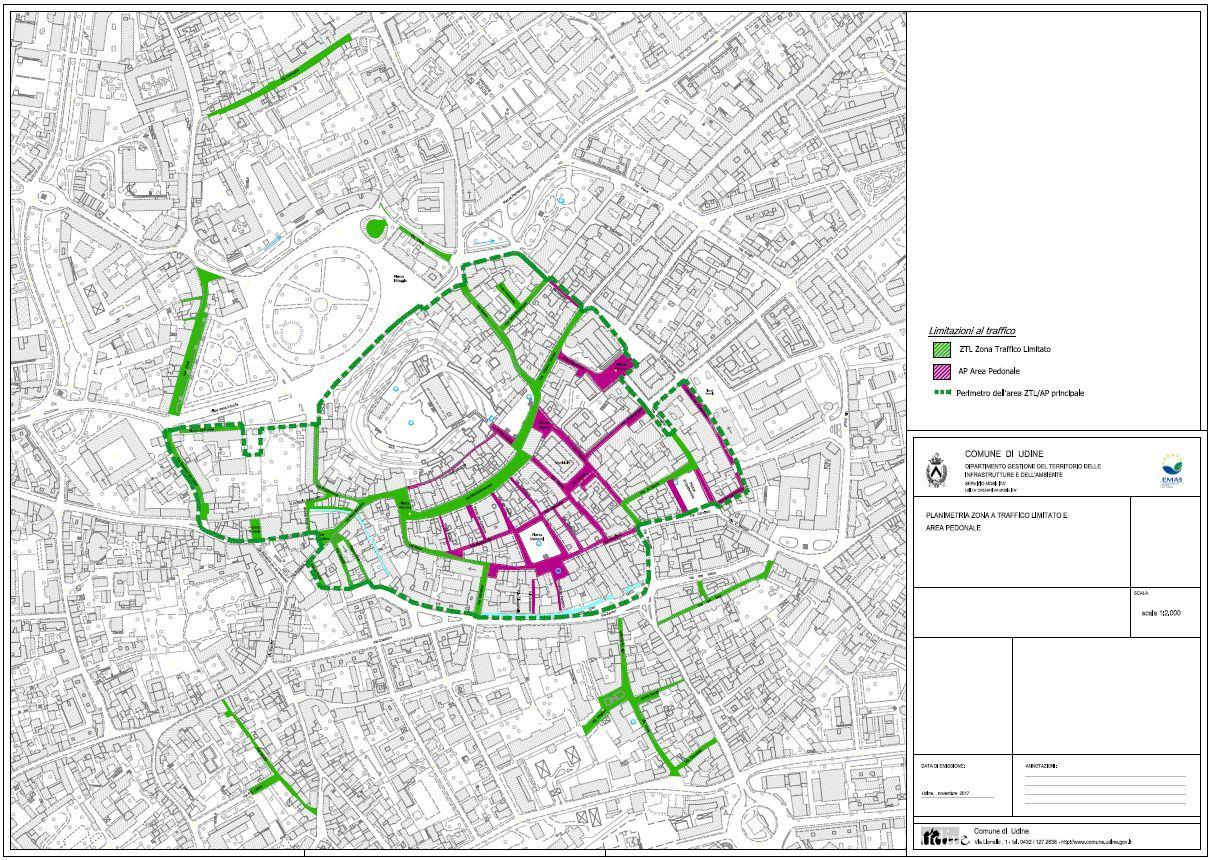 Ztl udine mappa orari telecamere parcheggi for Casa moderna udine 2017 orari